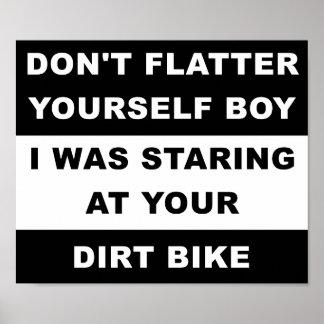 Betrachten Ihres Dirtbike lustigen Plakats Poster