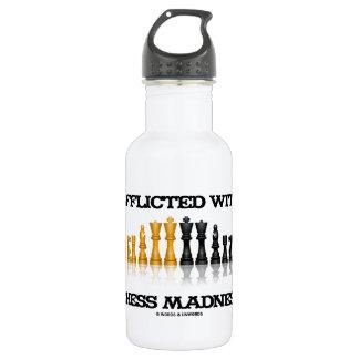 Betrübt mit Schach-Verrücktheits-reflektierendem Trinkflaschen