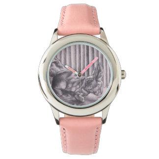 Betrug Conejo de Terciopelo tela höfliche Uhr