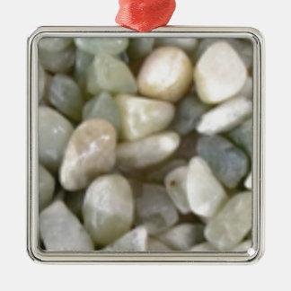 Bett der glatten Felsen Silbernes Ornament