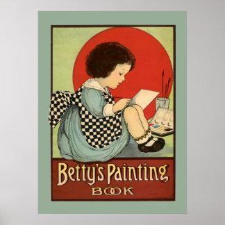 Bettys Malerei-Buch Poster