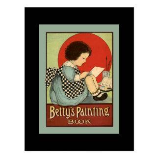 Bettys Malerei-Buch Postkarte