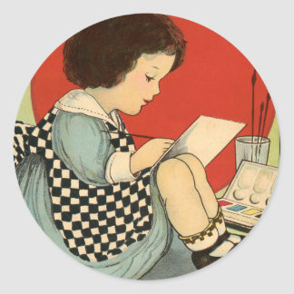 Bettys Malerei-Buch Runder Aufkleber