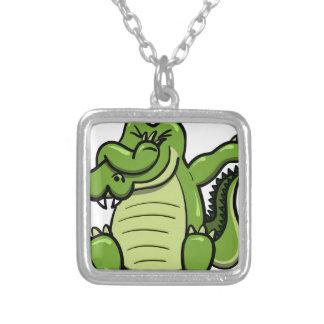 Betupfender Tier-Alligator Versilberte Kette