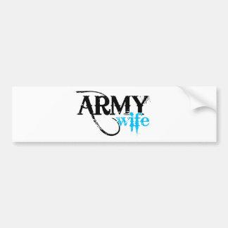Beunruhigt, Armee-Ehefrau beschriftend Autoaufkleber