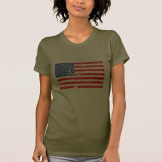 Beunruhigte Art USA-Flagge T-Shirt