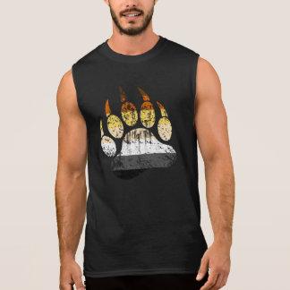 Beunruhigte Bärn-Stolz-Flaggen-Bärenpranke Ärmelloses Shirt