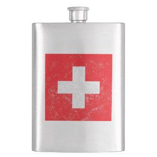 Beunruhigte die Schweiz-Flagge Taschenflasche