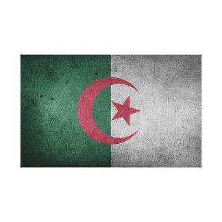 Beunruhigte Flagge von Algerien Leinwanddruck