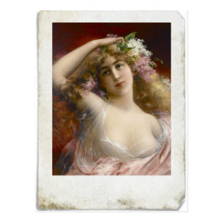 Beunruhigte Fotografie viktorianischer Dame Postkarte