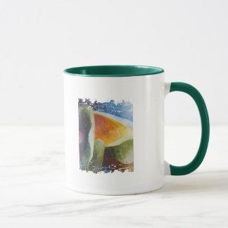 Beunruhigte Grenze 2 versah Wecker-Tasse mit Tasse