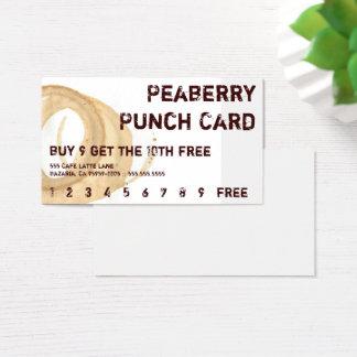 Beunruhigte Kaffee-Fleck-Getränk-Lochkarte Visitenkarte