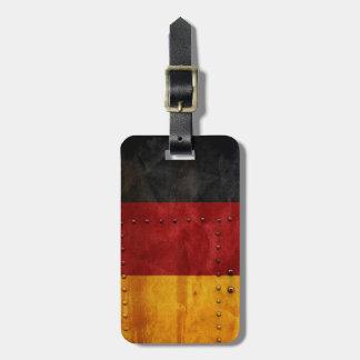 Beunruhigte Landesflaggen | Deutschland Kofferanhänger