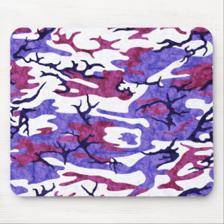 Beunruhigte lila Camouflage Mousepad