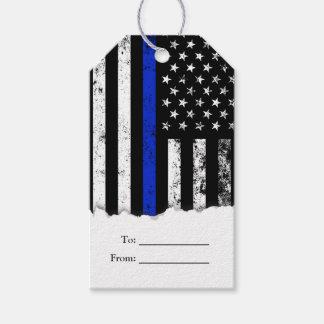 Beunruhigte Polizei-Flagge Geschenkanhänger
