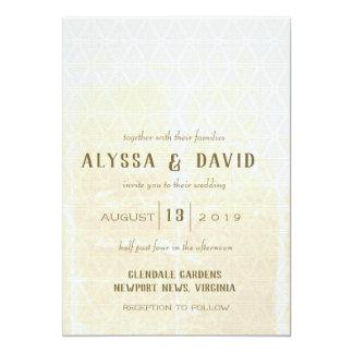 Beunruhigte weiße Dreieck-Hochzeit laden ein Karte