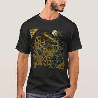Beunruhigter Blick Steampunk Entwurf T-Shirt