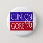 Beunruhigter Entwurf Clintons Gore 96 Runder Button 5,1 Cm