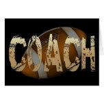 Beunruhigter Fußball-Trainer Karte