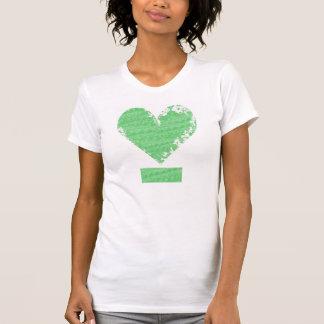 Beunruhigter Herz-Entwurf T-Shirt