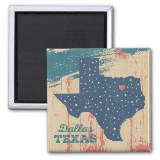 Beunruhigter hölzerner Magnet - Dallas Texas