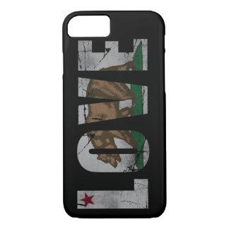 Beunruhigter Kalifornien-Liebe-Flaggen-Bär iPhone 8/7 Hülle