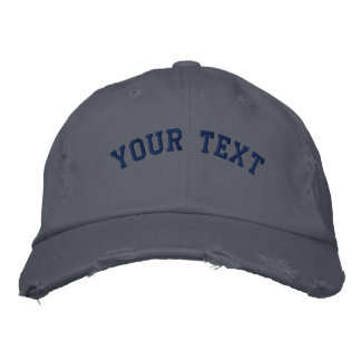 Beunruhigtes gesticktes Kappen-Schottland-Blau Bestickte Kappe