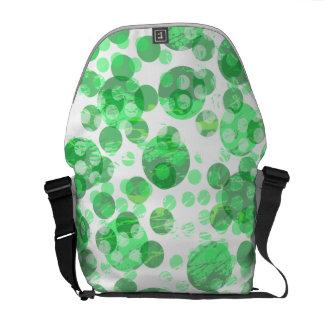 Beunruhigtes grünes Stellen-Muster Kurier Tasche