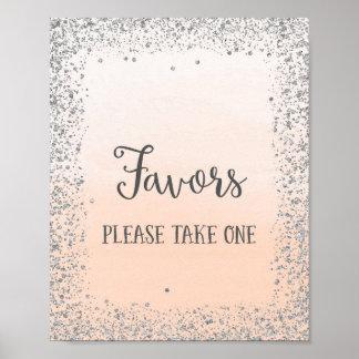 Bevorzugungen, die Plakat-Druck Wedding sind Poster