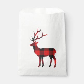 Bevorzugungs-Taschen der Büffel-karierte Rotwild-| Geschenktütchen