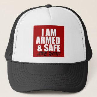 Bewaffneter u. sicherer Fernlastfahrer-Hut Truckerkappe