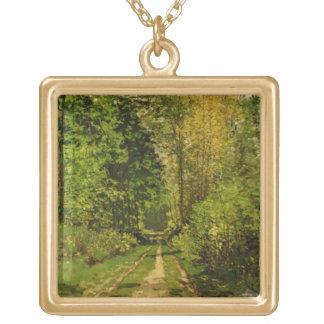 Bewaldeter Weg Claude Monets | Vergoldete Kette