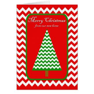 Bewegliche Weihnachtskarte - Adressenänderung Grußkarte