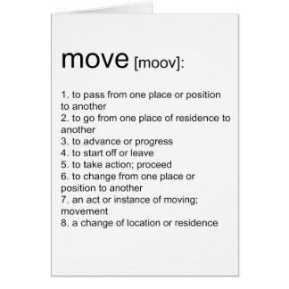 Bewegung definiert karte