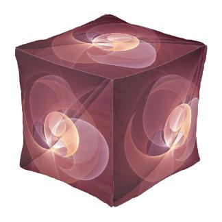 Bewegungs-abstrakte moderne kubus sitzpuff