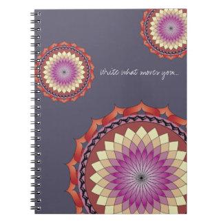 Bewegungs-Mandala-Notizbuch   schreiben, was Spiral Notizblock