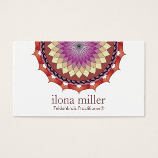 Bewegungs-Mandala-Visitenkarte  , das im Herbst Visitenkarte