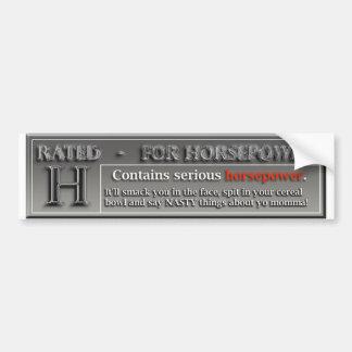 Bewertetes H für Pferdestärken-Autoaufkleber Autoaufkleber