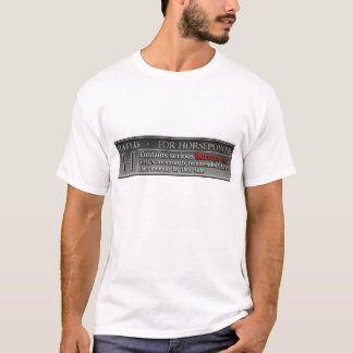 Bewertetes H für Pferdestärken T-Shirt