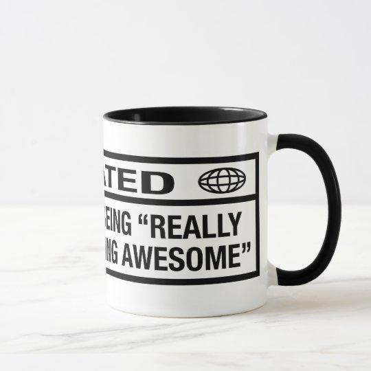 Bewertetes R für Sein fantastisch Tasse
