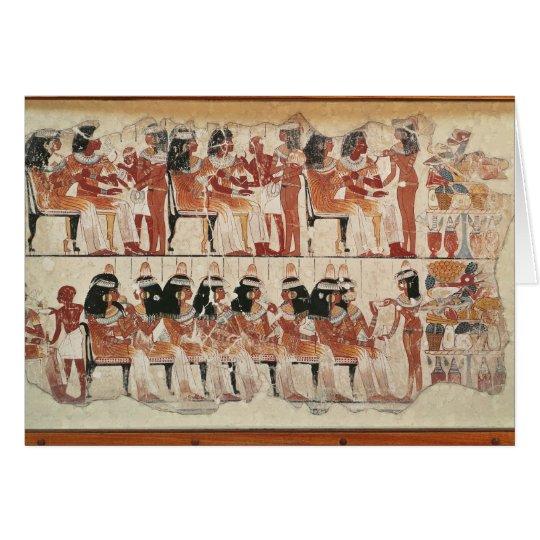 Bewirten Sie Szene, von Thebes, c.1400 BC festlich Karte