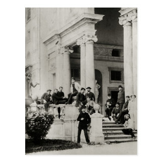 Bewohner des Landhauses Medici in Rom Postkarte