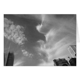 Bewölken Sie Vogel, New York City, USA, noir, Karte
