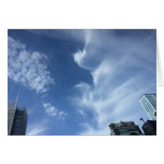 Bewölken Sie Vogel, New York City, USA, Skyline, Karte