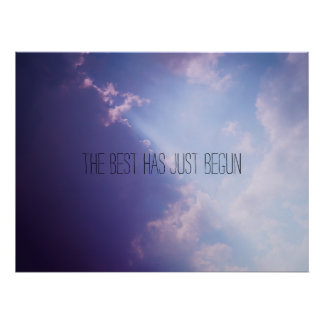 Bewölkt Text-Foto Plakat des Himmels inspirational