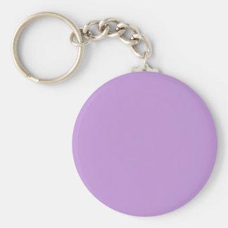 Bezaubernd vorzügliche lila Farbe P07 Standard Runder Schlüsselanhänger