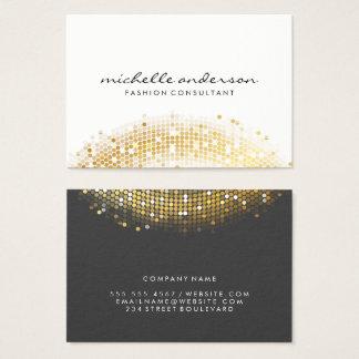 Bezaubernde GoldPaillette-weißes Grau Visitenkarte