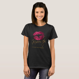 Bezaubernde heißes Rosa-Glitter-Lippen T-Shirt