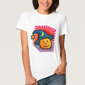 Bezaubernde Kürbislaterne T-shirts