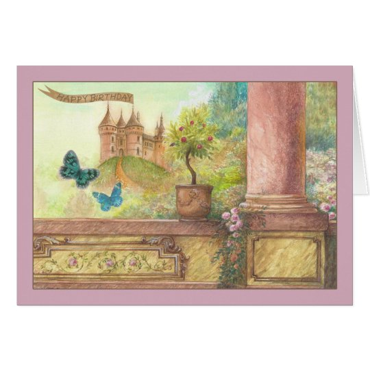 bezaubernder Geburtstag des magischen Schlosses Karte